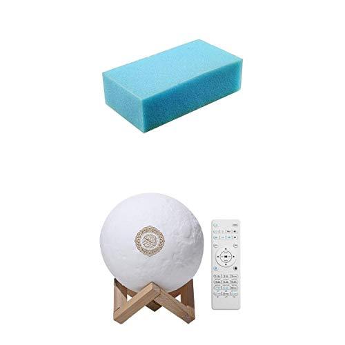 D DOLITY Islam 3D Mond Coran Altavoz Bluetooth Luna Lámpara de Noche Kit Recter