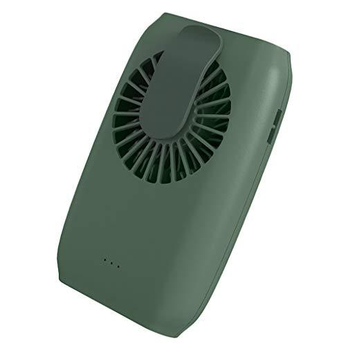 DFSDG Mini ventilador eléctrico USB, cintura colgante portátil colgante cuello muñeca perezoso ventilador