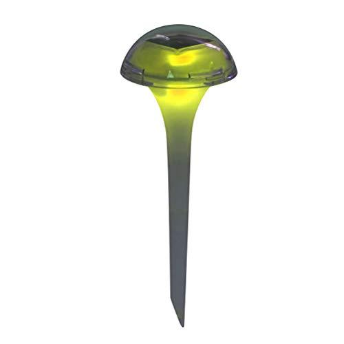 Uonlytech - 1 lámpara solar LED para césped, hierba y seta, para decorar el jardín