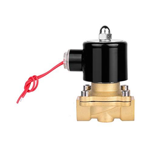 Ontracker Válvula solenoide eléctrica de 1/2 pulgadas CA, 220 V, regulación de flujo neumático, normalmente cerrada, 2 vías de riego, sistemas de ósmosis inversa, agua, aceite, aire, gas y combustible