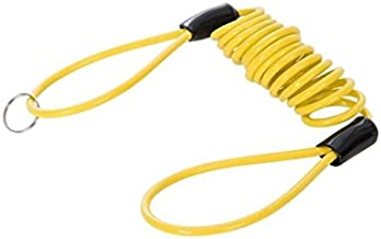 Silverline 955677 Cable Enrollado para candado de Moto 1.100 x 4 mm