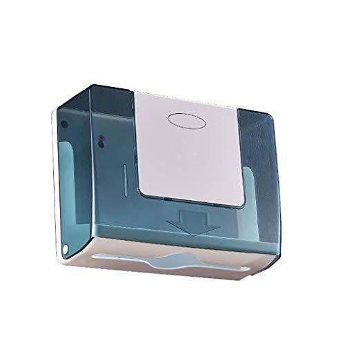 PLOP Dispensador de Toalla de Papel de Montaje en Pared Caja de Tejido Comercial montado en la Pared Toallito de la Toalla de Mano Llave para el hogar (Color : A)