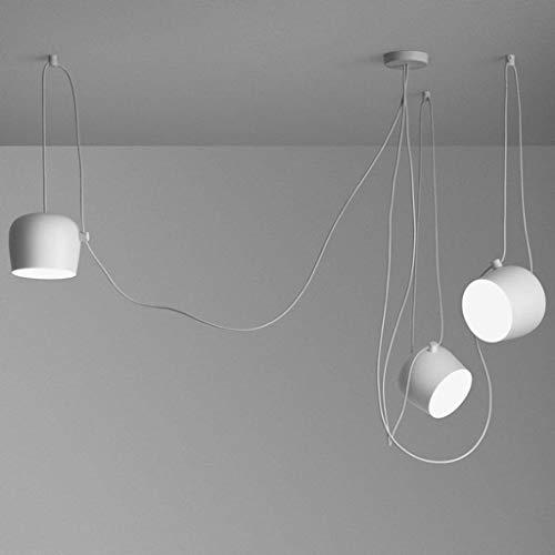 DIY-E27-Pendelleuchte, Kreativ Spider Kronleuchter, Verstellbare Esszimmerlampe, Decorative Deckenleuchte, 3-Flammig, Aluminium, Schlinge: 3 * 1.8m, Lampenschirm: Ø24.3cm * H21.1cm, Max. 60W