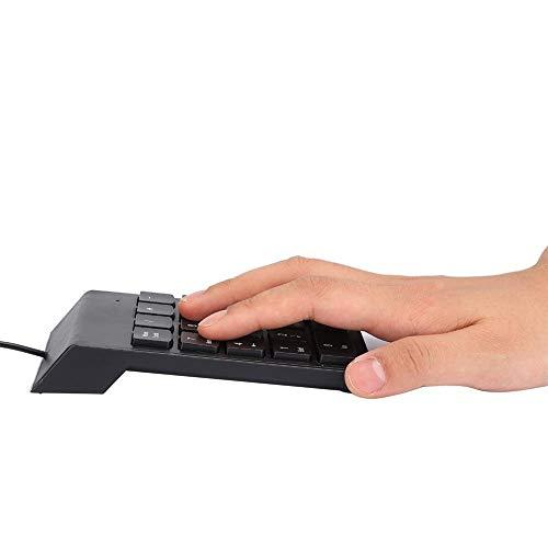 Teclado con Cable, Teclado numérico, Teclado, silencioso para Contabilidad...