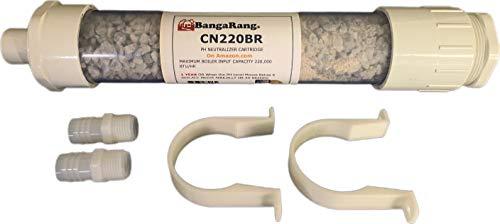 "BANGARANG Condensate Neutralizer 220,000 btu Refill Filter (2) 1/2"" Male x 3/4"" Barb Adaptors"