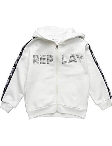 Replay Mädchen SG2413.050.20225 Sweatjacke, Weiß (Butter White 12), 128 (Herstellergröße: 8A)