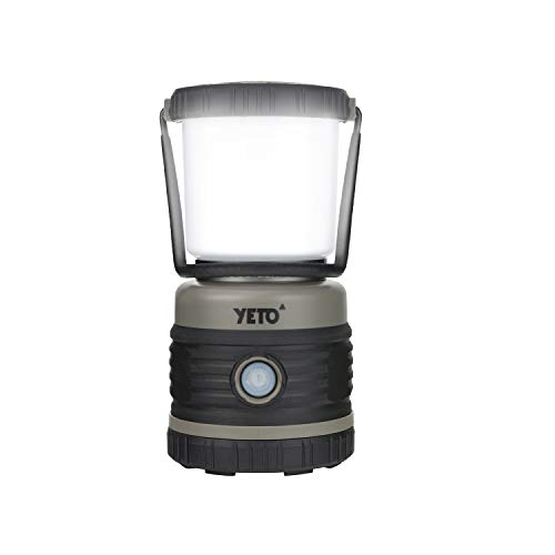 yETO Super Bright 1000 Lumen Camping Lantern, Portable Backpacking Lantern, LED Lanterns Battery Operated, 4 Light Modes Flashlight, Water Resistant, Shock Proof | Emergency, Hurricane, Power Outage