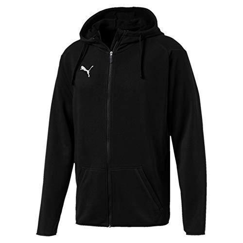 Puma Herren Liga Casuals Hoody Jacket Jacke, Schwarz (Puma Black-Puma White), M