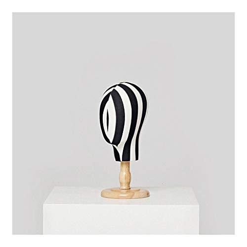 OUMIFA Soporte de exhibición de la joyería Maniquí Cabeza Collar de Madera de exhibición del escaparate de la joyería del Sombrero Headwear Viendo -15,4'/ 18,5' Soporte de exhibición