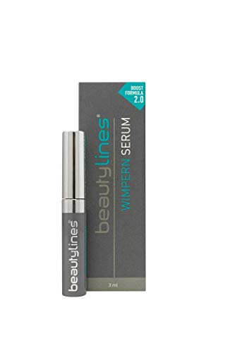 Beautylines Wimpern Serum 2.0 Verbesserte Formel, Wimpern-Augenbrauen-Booster Serum, 1er Pack (1 x 3ml)