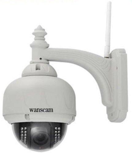 Wanscam PTZ IP Camera AJ-C0WA-C0D8 - Cámara inalámbrica antirrobo (giro de 355º, zoom, 8 mm, 15 m, visión nocturna)
