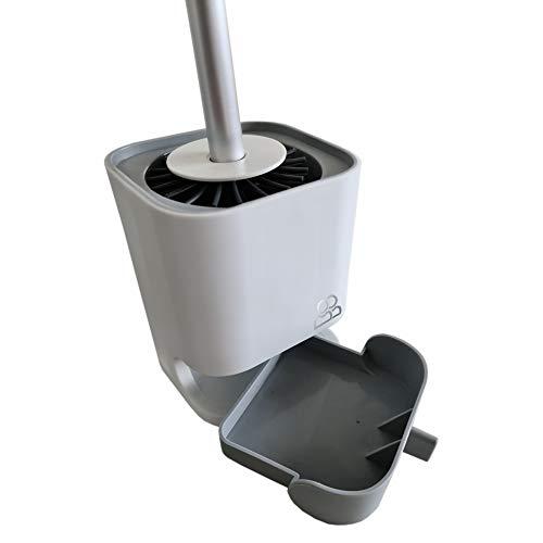 BillundBilly Silikon WC Bürste Set mit 2 Bürsten, Silikonbürsten, schnell trocknend, Lotuseffekt, Kein Bohren, herausnehmbarer Auffangbehälter, leichte Montage