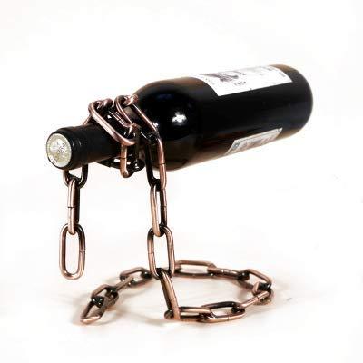 CAIJINJIN estante del vino La magia suspendió hierro botellero Cadena Cadena de metal apoyar las actividades artesanales de la personalidad creativa hogar Decoración Almacenamiento