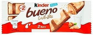 Kinder Chocolate 6 PACK - Bueno, Happy Hippo, Chocobons, Kinder with Cereal, Mini bars (Bueno White 43g)