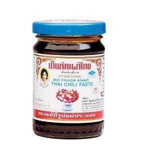 Mae Pranom Thai Chili Paste 8oz. (M) Thai Food Cooking Product of Thailand