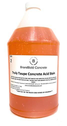 BrandBold Brilliance Concrete Acid Stain - Truly Taupe (Light Gray Brown) - 1 Gallon - Step 2