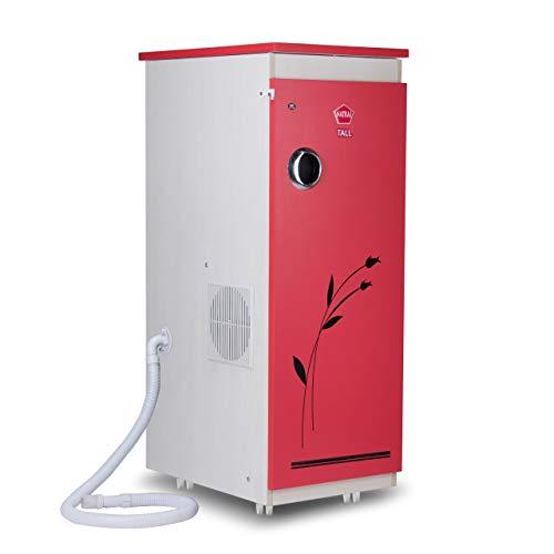 Natraj TALL Aata Chakki Ghar Ghanti Automatic Domestic Flourmill With Inbuilt Vacuum Cleaner Red Matt Finish