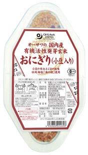 オーサワの国内産有機活性発芽玄米おにぎり(小豆入り 90g×2個)×2個           JAN:4932828024608