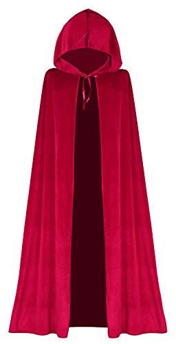 Seawhisper Rotkäppchen Kostüme Damen Roter Umhang Rot Vampir Umhang Prinzenumhang Karnevalskostüm Halloween Kostüm