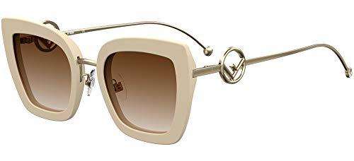 FENDI Gafas de Sol F IS FF 0408/S Ivory/Brown Shaded 51/24/140 mujer