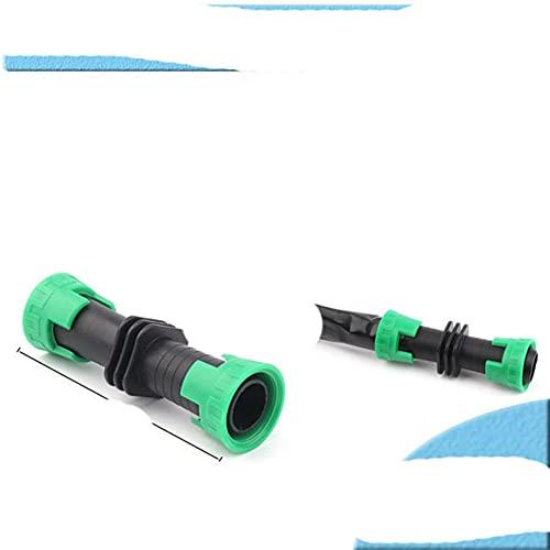 Conectores de cinta de goteo de riego de 5 piezas de 16 mm, conector en T, codo, juntas de reparación, conector de tuerca de manguera de riego para ahorro de agua agrícola, conector recto de 16 mm