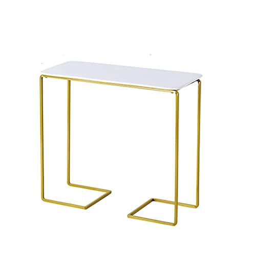 Yousiju Soporte de pastel de hierro forjado dorado Plato de cerámica blanco Molde para pasteles Aperitivos Plato de postre Soporte de exhibición (Color : Gold, Size : 30.3x13.8x27.5cm)