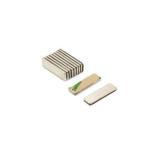 first4magnets Magnet, 1,6kg, Nordpol sichtbar, selbstklebend, N42,Neodym-Quadermagnet für Handwerksarbeiten (10Stück)