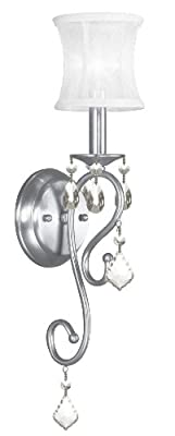 Livex Lighting 6301-91 Newcastle Brushed Nickel Wall Sconce