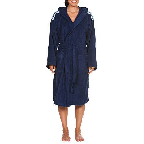 ARENA Unisex Bademantel Soft Robe Core, Navy White, M