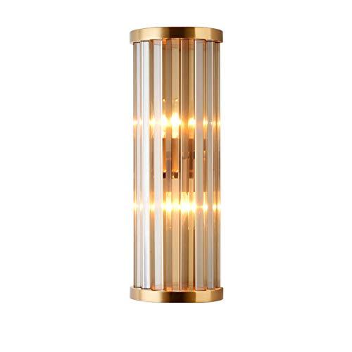 Moderno Ajuste Fácil E14 Cristal Lámpara De Pared,Cabecera Salón Corredor Cafetería Bar Luz De Pared,Creativo Decorar Aplique Pared-Dorado 16x46cm(6x18inch)