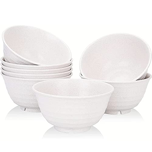 [Set of 8] Unbreakable Cereal Bowls 30 OZ Set 8 Microwave and Dishwasher Safe BPA Free E-Co Friendly Deep Soup Bowl Large Deep for Cereal, Salad, Soup, Rice
