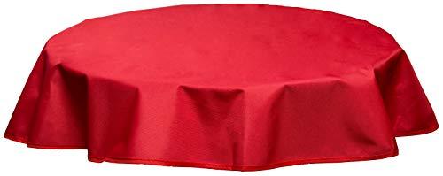 beo Table d'extérieur Plafond imperméable, Rond, diamètre 120 cm, Rouge