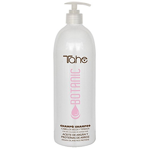 Tahe Botanic Champú Protector de Color para Cabellos Teñidos Y Secos con Aceite de Argán y Proteínas de Arroz, 1000 ml
