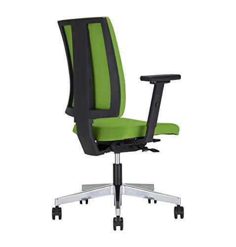 Preisvergleich Produktbild NOWY STYL Schreibtischstuhl Drehstuhl Bürostuhl Navigo Window,  ohne Armlehnen,  Alu-Fußkreuz,  GS geprüft,  Rollen für Teppichböden,  grün