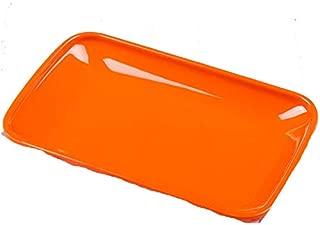 7.5/8.5/9.5 Inchful Plate Dish Rectangle Snack Fruit Vegetable Pot Shop Buffet BBQ Kitchen orange 8.5