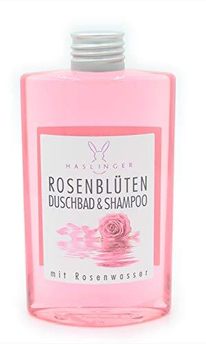Rosenblüten Duschbad Shampoo mit Rosenwasser 200ml Haslinger Nr. 2902