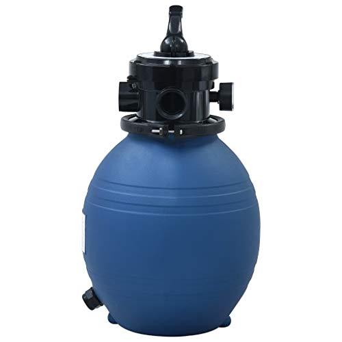 Festnight Pool-Sandfilter mit 4-Wege-Ventil Poolfilter Poolpumpe Filteranlage Filterkessel Pool Filter Blau 300 mm