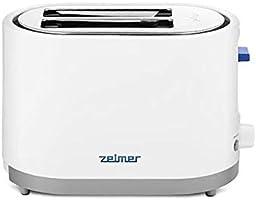 Zelmer ZTS7385 - Toster, max 750W, Funkcje: rozmrażanie, podgrzewanie, Automatyczne centrowanie chleba, 2 Szerokie...