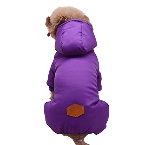 SENERY Dogs Coat Jacket Cotton Fleece Windproof French Bulldog Pets Clothing Outfits Winter Pet Hoodie