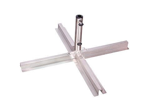 Doppler Edelstahl Plattenständer bis 48 mm Rohrdurchmesser