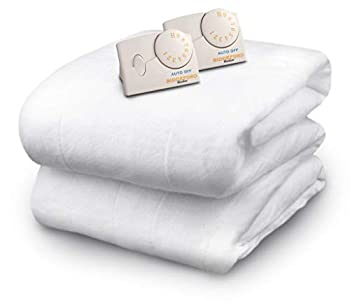 Biddeford Blankets Polyester Electric Heated Mattress Pad with Analog Controller King White