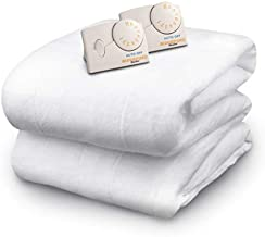 Biddeford Blankets Polyester Electric Heated Mattress Pad with Analog Controller, Queen, White