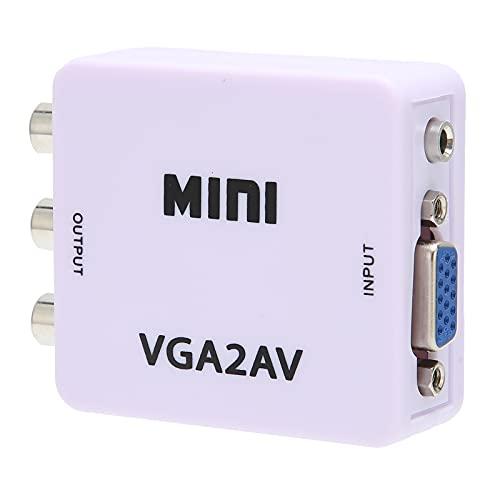 Adaptador VGA A AV, Convertidor De Video De Menos De 2.5W para Salida Sincronizado con Audio De Video