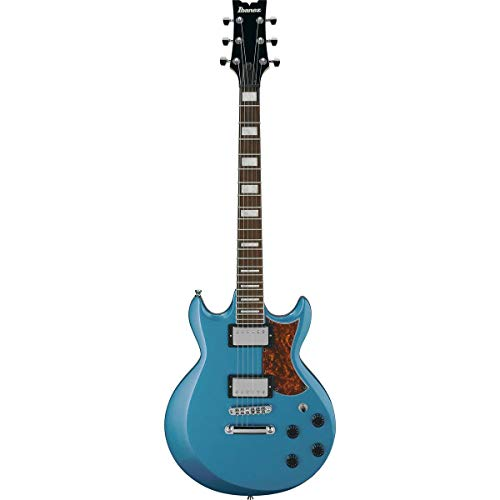 Ibanez AX 6 String Solid-Body Electric Guitar, Right, Metallic Light Blue, Full (AX120MLB)