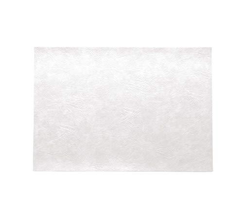 ASA – Set de table – Couleur : blanc – Cuir synthétique végétalien – 46 x 33 cm