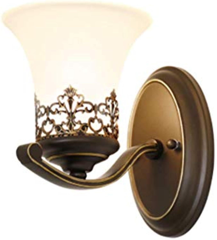 Dekorationinnenbeleuchtungbeleuchtungspotleuchtenleuchtensystemeamerican Antique Wall Lamp, Bedroom, Living Room, Dining Hall, Lamp Aisle, Iron Art Hallway Corridor Wall Lamp