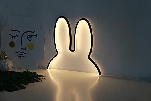 Nordeuropäische Kinder Kinder Dekorative Kreative Led-Lampe KaninchenNachtlicht Plug-In Usb ChrismasGeschenkraum Karton Miffy-Black