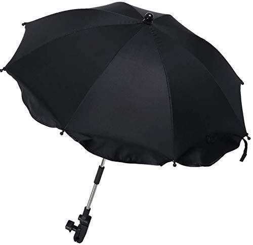 Paraguas Universal para Cochecito Anti UV 50+,Paraguas Universal para Cochecito con Soporte Ajustable Desmontable,Paraguas para Cochecito con Fijación para Tubo Redondo u Oval