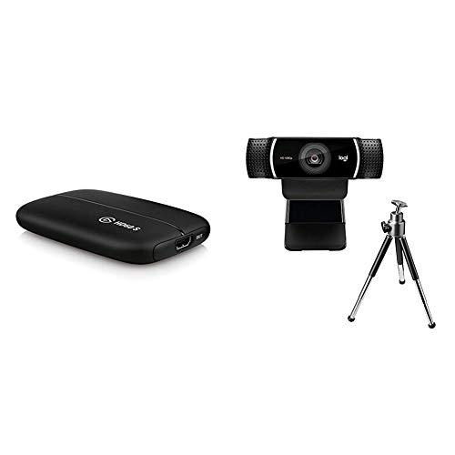Elgato Game Capture HD60 S - Gameplay in 1080p60 streamen, Low Latency Technologie USB 3.0, für PS4 und Xbox One + Logitech C922 Pro Stream Webcam, schwarz