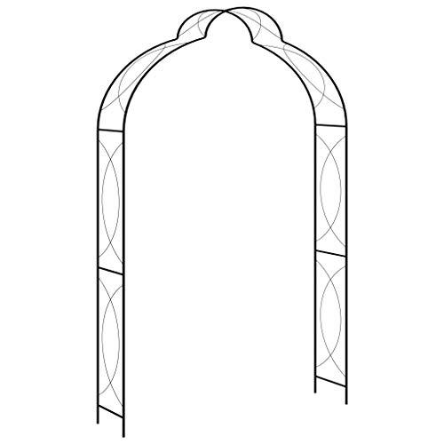 Festnight Arco per Rose Rampicanti Decorazione Giardino Garden Pergolas Metallo Arco Sostegno per Piante Rampicanti 150x34x240 cm 120x38x258 cm